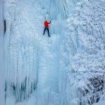 Ice Climbing on the frozen Glinščica Waterfall