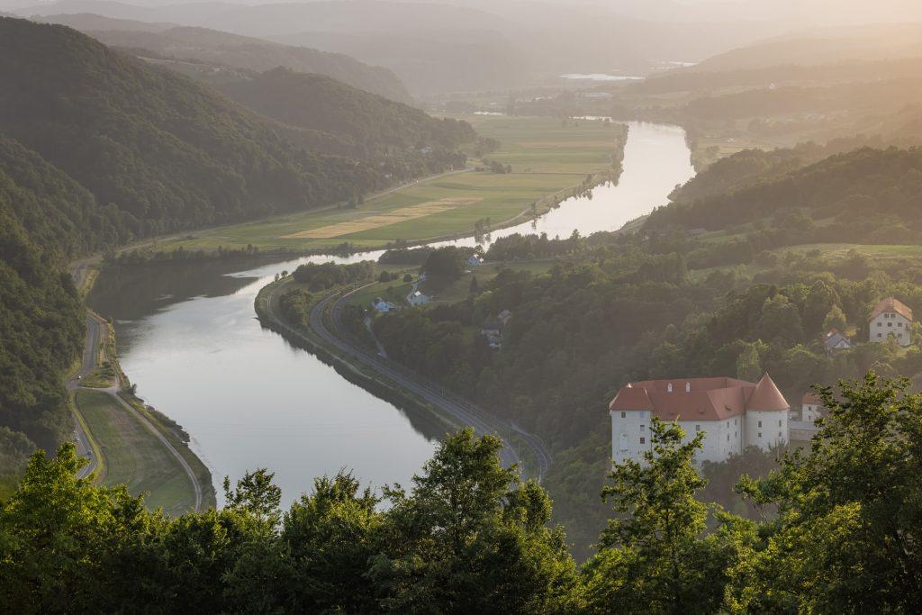 Rajhenburg Castle and the Sava river
